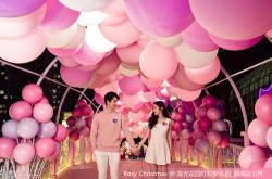 时尚千禧粉光影环『泡』游园 空降香港沙田新城市广场萌动圣诞